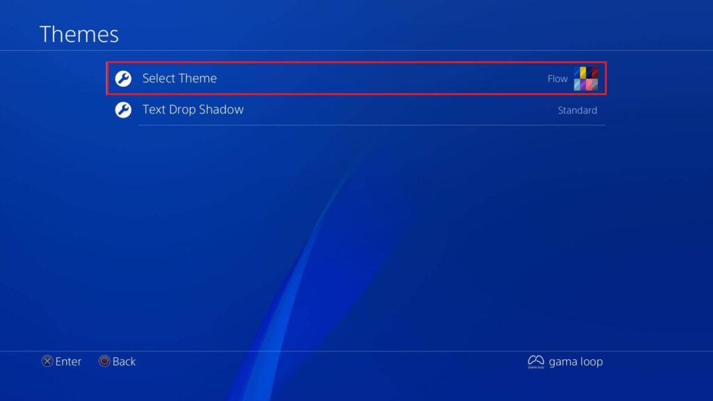 تغییر عکس پس زمینه PS4