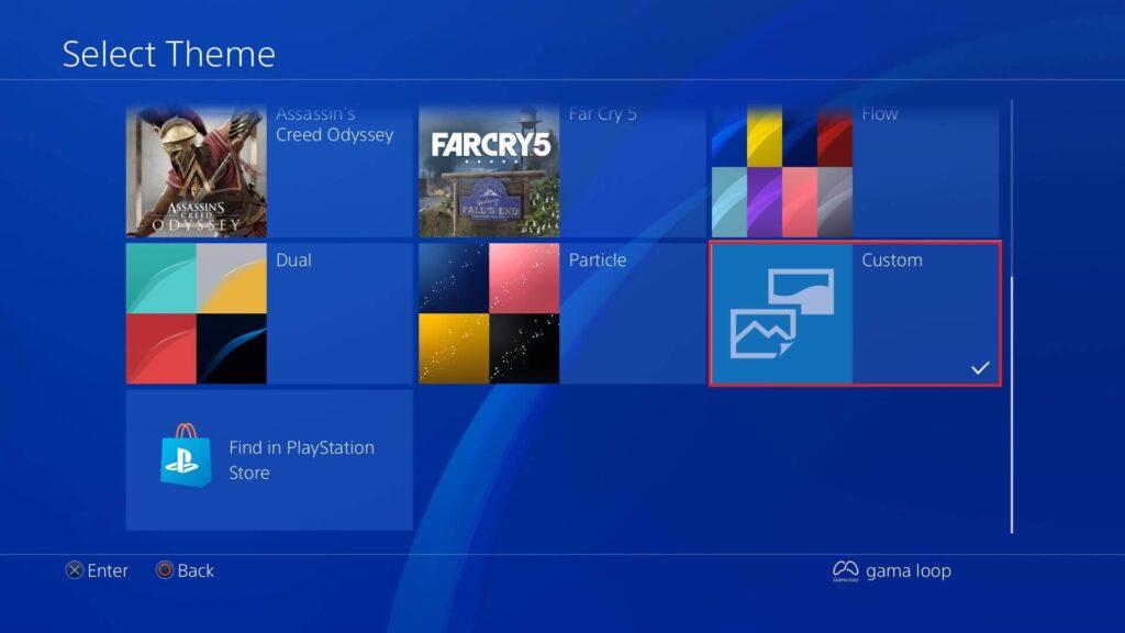 تغییر تم با فلش در PS4