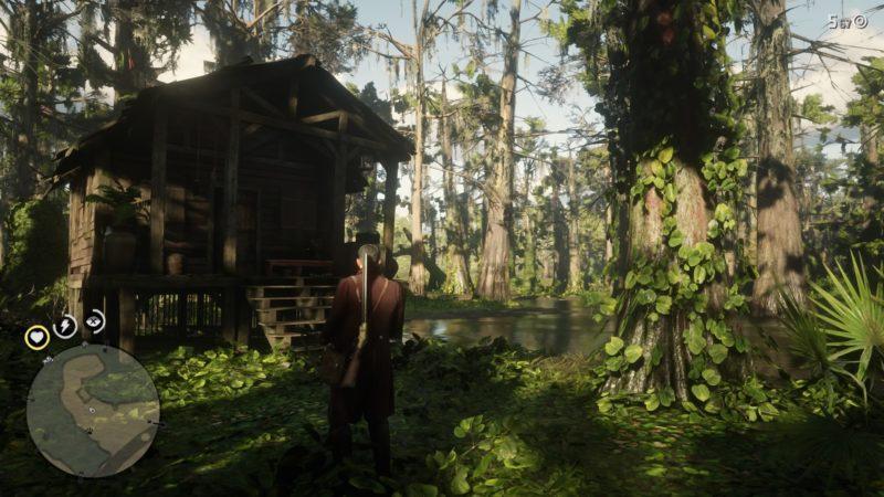 خانه نفرین شده در بازی rdr2